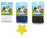 Perler Bead Bag, Black, White and Blue. Receive a bonus Kedudes© star pegboard FOR A LIMITED TIME ONLY!!