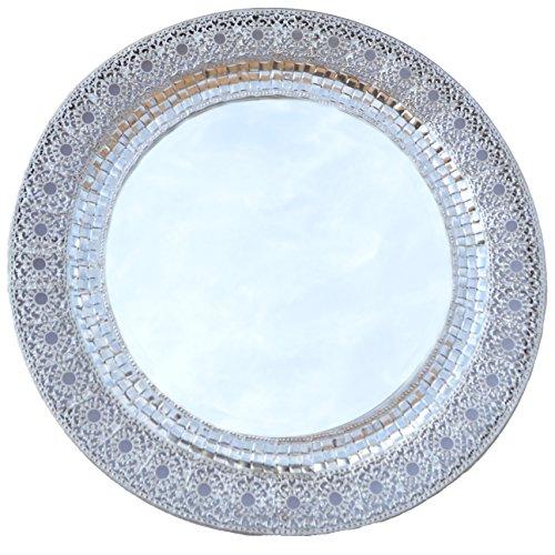 Lulu Decor, Silver Metal Wall Mirror (Oriental Round 24')