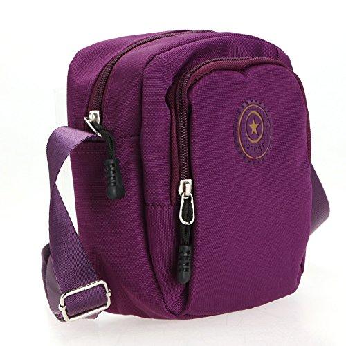 Portés Sac pour La Homme Sac Violet Horizontal Tissu Bandoulière de épaule Cabina Sacs à en Femmes Petit Oxford New Imperméable Sports 15wqpZ