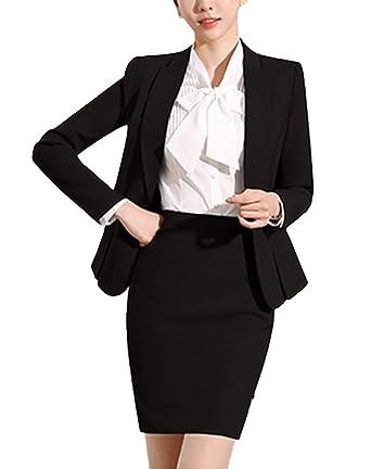 temperament shoes choose authentic online store SK Studio Women's 3 Piece Business Skirt Jacket Pants Dress Set Suits