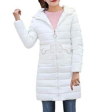 ❤ Abrigo de Bolsillo para Mujer, Moda cálida Mujer Abrigo cálido Abrigo con Capucha Gruesa Cálida Chaqueta Delgada Abrigo Largo Abrigo Abrigo Chaqueta ...