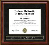 National University of Health Sciences (NUHS) Diploma Frame - Mahogany