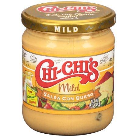 Chi-Chi's Fiesta Mild Salsa Con Queso 15.5 oz - Blended Mild Salsa