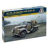 Italeri Sd. Kfz.3b Maultier Building Kit with FLAK 38