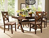 Cheap Roundhill Furniture Karven 5-Piece Solid Wood Dining Set with Table and 4 Chairs