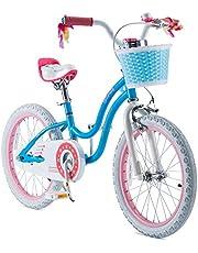 RoyalBaby Girls Kids Bike Stargirl 12 14 16 18 Inch Bicycle 3-9 Years Old Basket Training Wheels Kickstand Pink Blue Child's Cycle