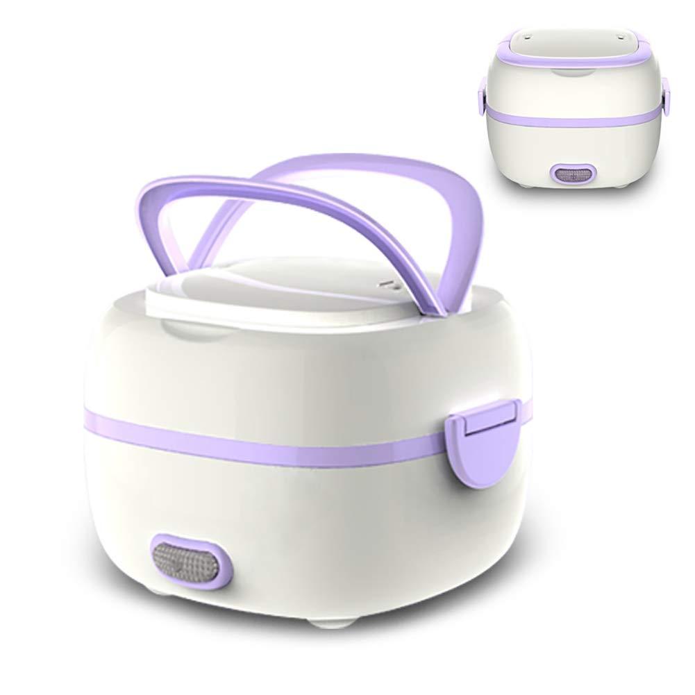 dezirZJjx Mini Electric Rice Cooker, Multi- Use Portable Kitchen, Slow Cooker, Sauté, Steamer, and Warmer,1.1L - 1.2L Purple US Plug