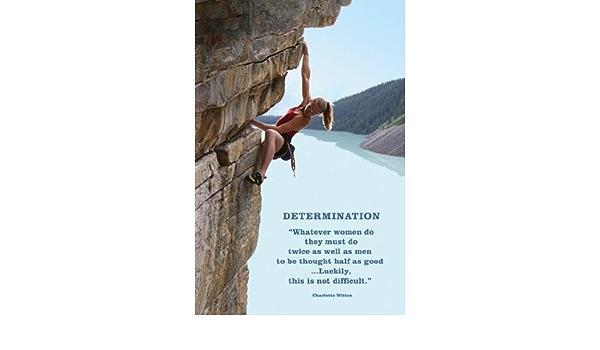 The Poster Corp Determinación (Mujer Escalada en Roca) Artistica di Stampa (60,96 x 91,44 cm)