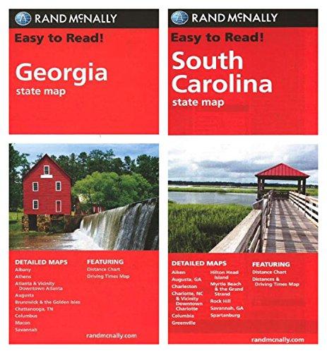 Rand McNally State Maps: Georgia and South Carolina (2 Maps)