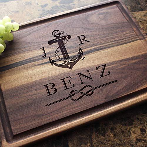 - Personalized Cutting Board, Custom Keepsake, Engraved Serving Cheese Plate, Wedding, Anniversary, Engagement, Housewarming, Birthday, Corporate, Closing Gift #804