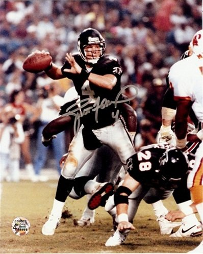 Brett Favre Autographed/Signed Atlanta Falcons 8x10 NFL Photo 'Action Shot' Radtke Sports