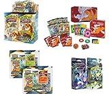 Ultimate Set! Poke mon Unbroken Bonds Sun & Moon Booster Box, Elite Trainer, Both Theme Decks & 3-Pack Blister Coin Sets