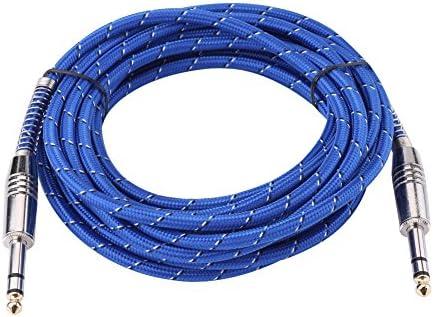 Cable de Audio, 6.35mm estéreo Macho Cable Auxiliar para Mezclador ...