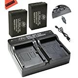 BM Premium 2-Pack of LP-E17 Batteries and Battery Charger for Canon EOS M3, EOS M5, EOS Rebel T6i, Rebel T6s, EOS 750D, EOS 760D, EOS 8000D, KISS X8i Digital SLR Camera