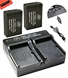 : BM Premium 2-Pack of LP-E17 Batteries and Battery Charger for Canon Rebel SL2, EOS M3, EOS Rebel T6i, Rebel T6s, EOS 750D, EOS 760D, EOS 8000D, KISS X8i Digital SLR Camera