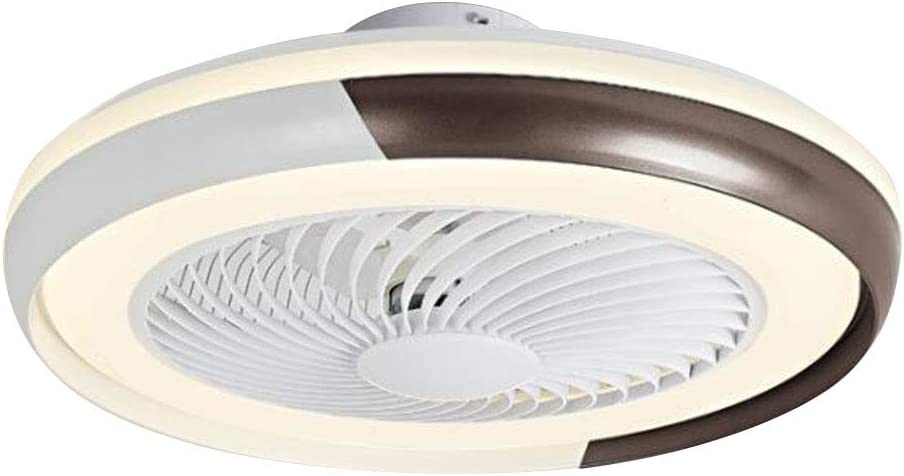 Ventilador de techo invisible ultrafino de 20 cm de luz de techo silencioso 36 W regulable con control remoto, se pueden cronometrar 3 velocidades de viento, se usa en la sala de estar, dormitorio