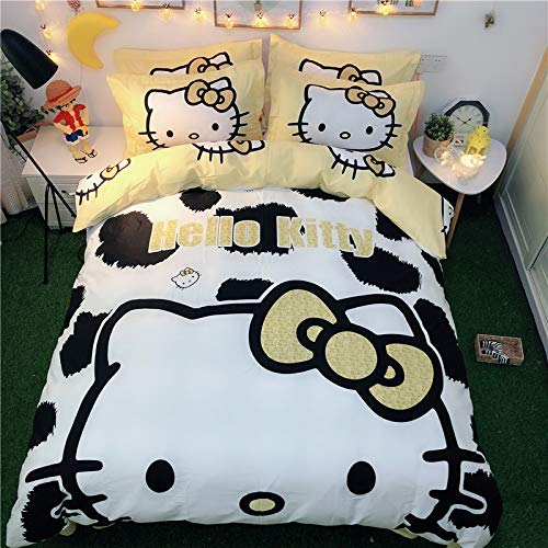 gold Hello Kitty bedding set