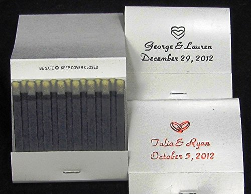 Presents Forever 100 White Personalized matchbooks Wedding Favors Bridal Shower Birthday Matches Free Personalization]()