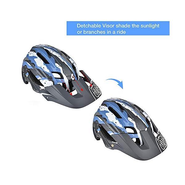 300g 56-60cm Cascos de Bicicleta con Visera Desmontable Yiesing Casco de Ciclismo 15 Vetns MTB Asco para Hombres y Mujeres Adultos Ajuste Ajustable