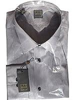 Ike Behar Men's Blue Steel Full Sleeve Shirt RETAIL $265 ITALY