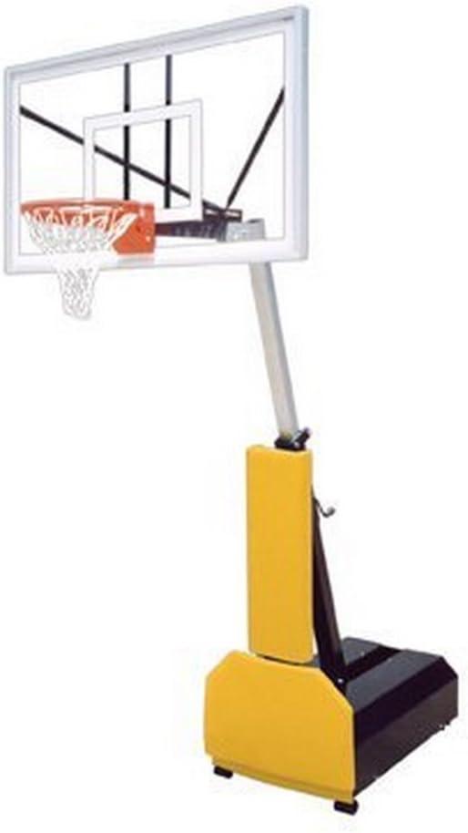 First Team Fury Nitro Steel-Glass Portable Basketball System44; Columbia Blue