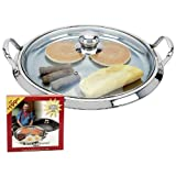Best Griddles With Glass Lids - Chefs Secret Maxam 5ply Stainless Steel Round Griddle Review