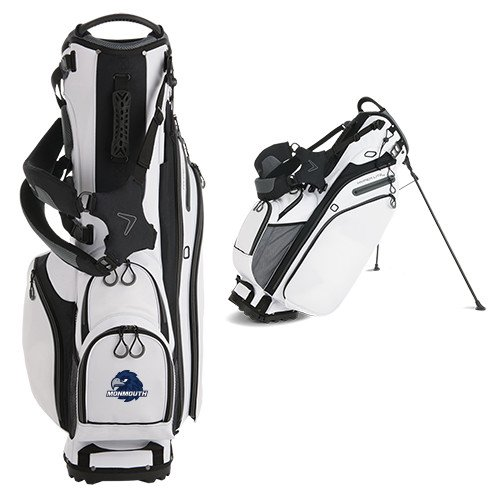 Monmouth Callaway Hyper Lite 4 White Stand Bag 'Official Logo' by CollegeFanGear