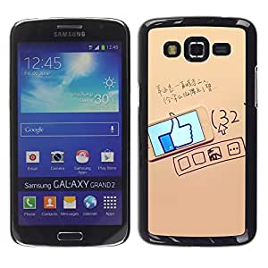 Dragon Case - FOR Samsung Galaxy Grand 2 - more important than being right - Caja protectora de pl??stico duro de la cubierta Dise?¡Ào Slim Fit