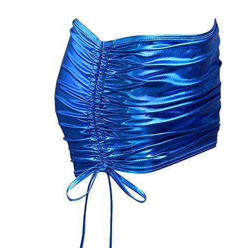 Cuir Haute Jupe Couleurs Soire Clubwear Robe Bleu Zip 10 Femme Jupe Faux Taille Mini Noir Mini Bodycon Moulante CHICTRY Wetlook Crayon Sexy Courte gYva5xw1nq