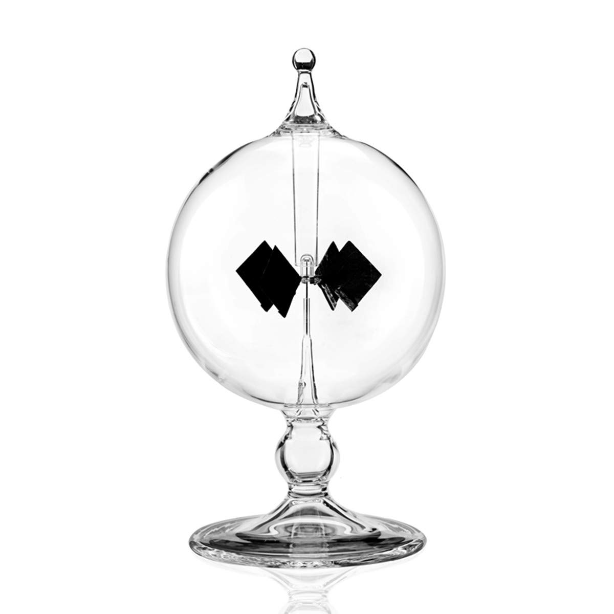 MarsGeek Glass Windmill Solar Powered Crookes Radiometer Light Mill for Detecting Sunlight and Electromagnetic Radiation Educational Teaching Study Tool Office Home Decoration Gift