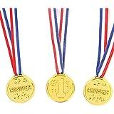 Fun Central BC740, 1.5 inch, 72 pcs Winner Award Medals, Medal Awards, Award Medals Bulk, Award Medals for Kids, Winners Medals, Winner Medals for Kids, Kids Award Medals
