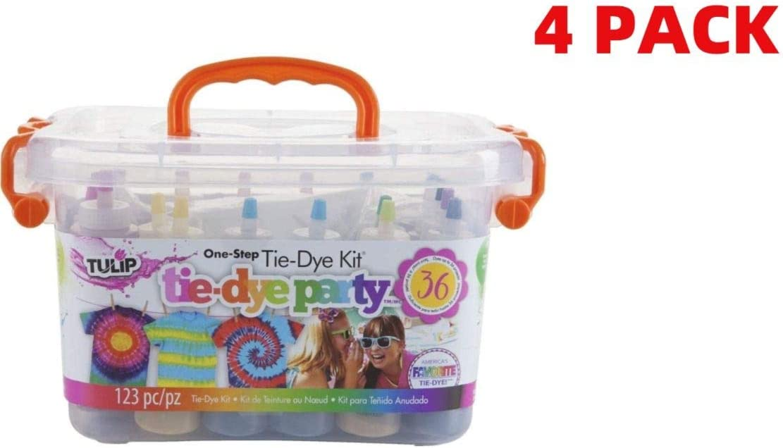 Adults Create Vibrant 12 Doodlehog Easy Tie Dye Party Kit for Kids and Groups