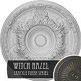 Ekena Millwork CM19GAWHC Granada Ceiling Medallion, Witch Hazel Crackle