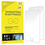iPhone SE Screen Protector, JETech 2-Pack iPhone 5/5S/5C/SE Premium Tempered Glass Screen Protector Film - 0314