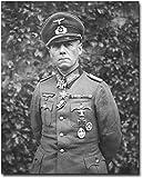 Desert Fox General Erwin Rommel WWII 11x14 Silver