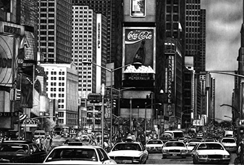 Times Square by Pencilworks Studio- Pencil Drawings by Jerry Winick