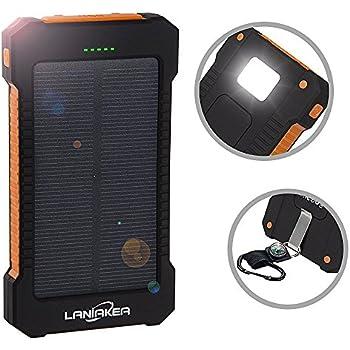 Amazon.com: Solar Charger 10000mAh, Laniakea Waterproof