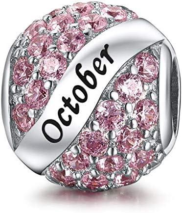 Femmes Bijoux Pendentif argent 925 fleur rose couronnes charme Fit Collier//Bracelet