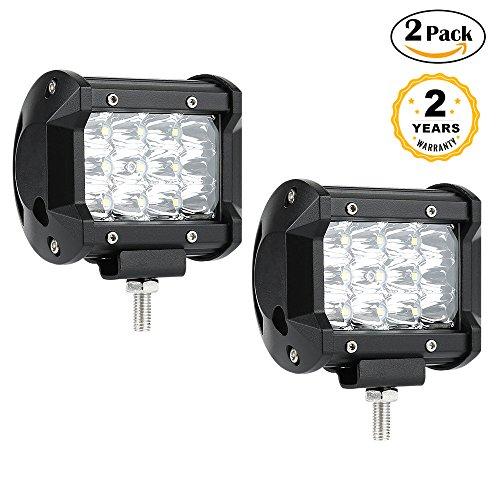 LED Light Bar, 2 PCS 36W 5500 Lumens LED Spot Light Off Road Light Driving Fog Light Super Boat Lights SUV Jeep Lamb Waterproof, 2 Years (36w Pc)