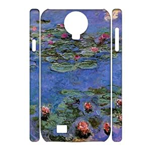Chinese Lotus pond Art Custom 3D Case for SamSung Galaxy S4 I9500,personalized Chinese Lotus pond Art Phone Case