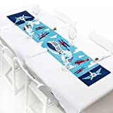 "Big Dot of Happiness Taking Flight - Airplane - Petite Vintage Plane Baby Shower or Birthday Party Paper Table Runner - 12"" x 60"""
