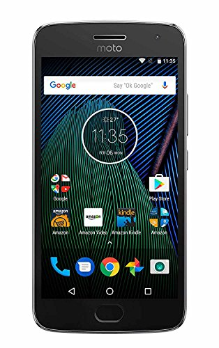 Moto G PLUS (5th Generation) – 64 GB – Unlocked – Lunar Gray – Prime Exclusive