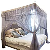 Mosquito net Home Floor Insect Proof Gauze 1.8m Bed Double 1.5m Rice Single Child Student Dormitory Summer, Gray, 2.0M