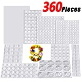 Bumper Pads 360 Pieces Clear Rubber Feet Self Adhesive 9 Sizes Noise Dampening Feet Door Stopper Bumpers Wall Protectors for Doors, Cabinets, Drawers, Glass and Electrical Appliances-AUSTOR