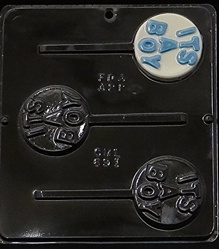 It's A Boy Lollipop Chocolate Candy Mold Baby Shower 691 Candy Molds N More