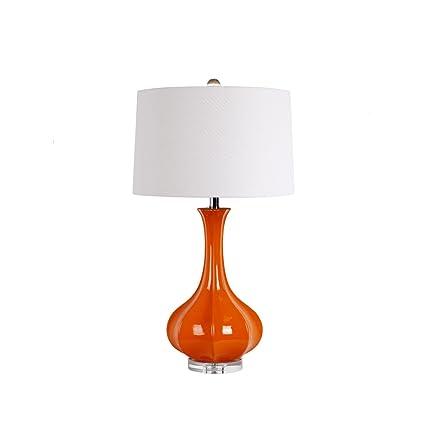 YMXLQQ,Lámpara de mesa, Americana país estilo de calabaza de ...