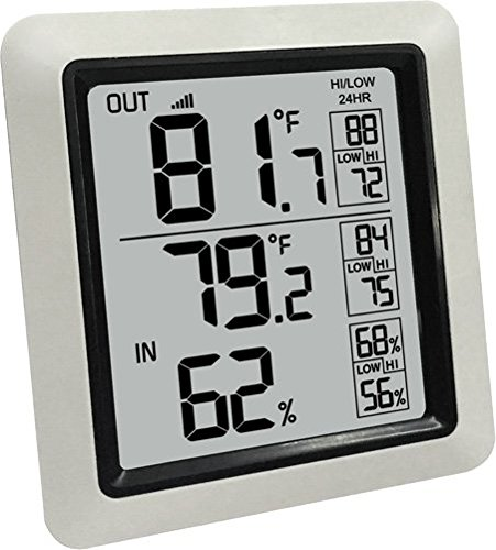 Ambient Weather WS-0270-2-Kit Dual Zone Wireless Outdoor Thermometer with Indoor Humidity WS-0270-2