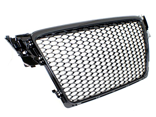 09-12 Audi A4/S4 (B8) RS4 Style Main Upper Euro Mesh Grille - Gloss Black