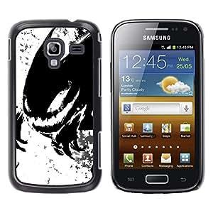 EJOY---Cubierta de la caja de protección la piel dura para el / Samsung Galaxy Ace 2 / --Monstruo Negro