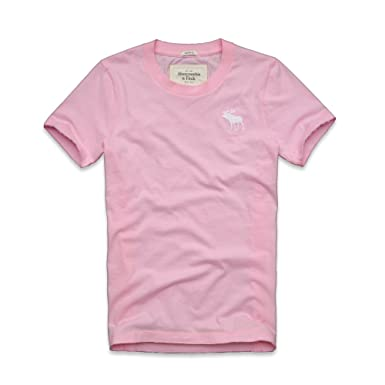 84a5cfc7 Abercrombie & Fitch Mens Muscle Fit T-Shirt in Light Pink (Medium ...